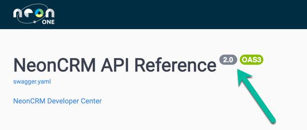 Version in API docs